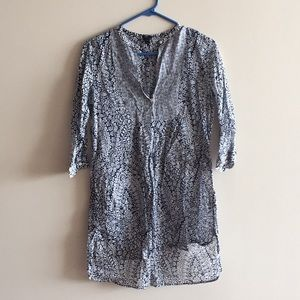 Jcrew navy print beach cover up size xxs